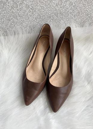 Туфли, туфлі, лодочки, кожаные, шкіряні, кожа, коричневые, коричневі,