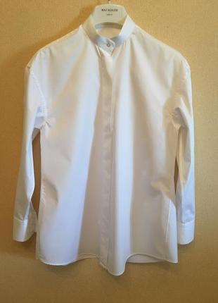 Рубашка белая хлопок  bowfolders