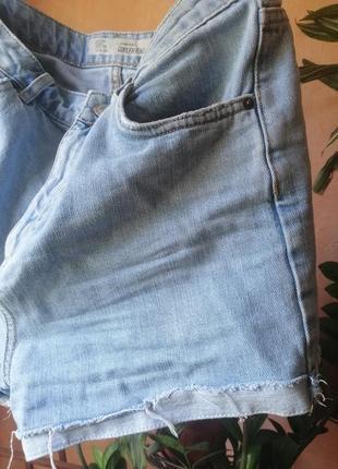 Трендовые короткие джинсовые шорты высокая посадка topshop
