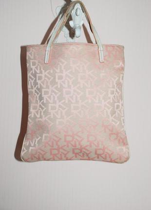 Сумка торба маленький шоппер розовый текстильный.