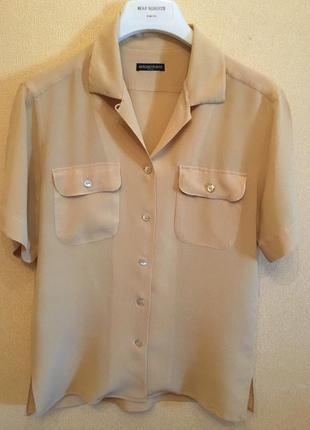 Рубашка с коротким рукавом шёлк antonio fusco milano