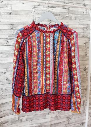Шикарная разоцветная блуза из вискозы tu