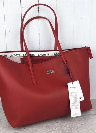 Женская сумка lacoste красная