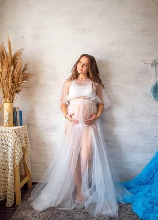 Платье для утра невесты. будуарный белый наряд для фотосессий