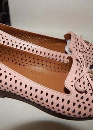 Балетки,туфли с перфорацией evromoda