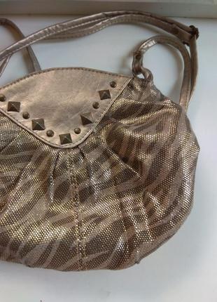 Мыленькая сумочка, сумка, боди- кросс с золотым оттенком