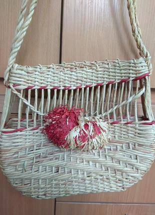 Плетенная сумка, сумка - корзина)