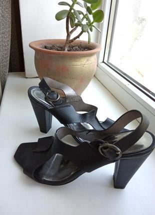 Шикарные кожаные босоножки elio pitti. разм. 37 (24 см)