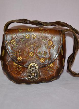 Кожаная сумочка ручной работы