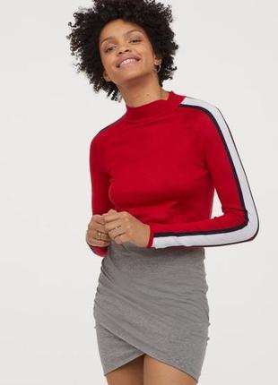 Оригинальная юбка с драпировкой от бренда h&m разм. s, м