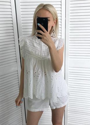 Блузка з прошви zara