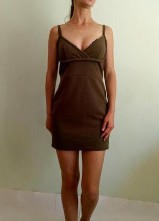 Платье, сарафан хаки