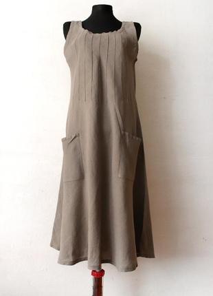 Льняное платье 100% лен оверсайз
