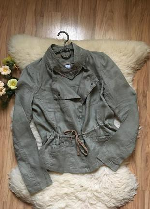 Эффектный пиджак ветровка лён cache