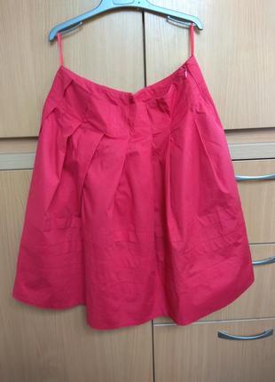 Красная стильная, трендовая юбка