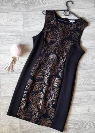 Красивое платье с интересным блестящим узором 16рр