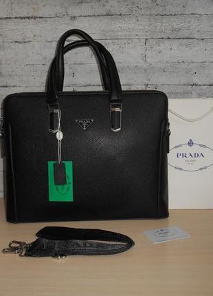 Сумка портфель мужская в стиле prada (прада),кожа, италия 68061