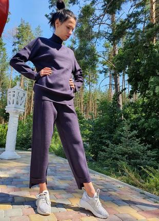 Женский прогулочный костюм сливового цвета lara (италия) размер s-m