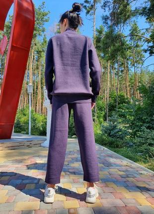 Женский прогулочный костюм сливового цвета lara (италия) размер s-m2 фото