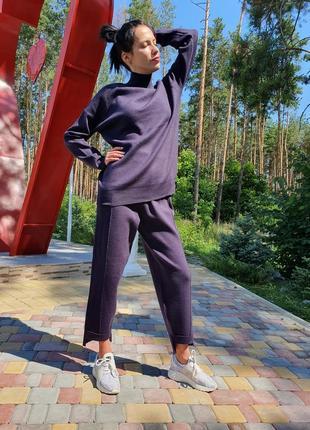 Женский прогулочный костюм сливового цвета lara (италия) размер s-m3 фото