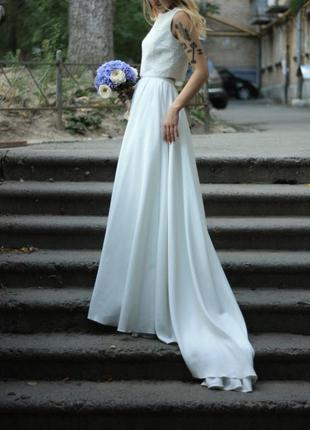 Свадебное платье (топ и юбка ) unona