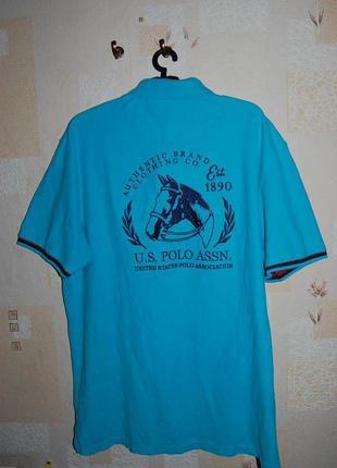 Футболка, рубашка, тенниска, полo u.s. polo assn, юбилейный оригинал, на 52-54 р-р.