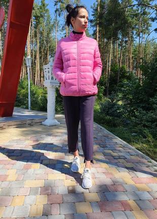 Женский пуховик розового цвета featuring (англия) размер м