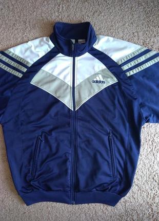 Кофта мастерка спортивная adidas винтаж 186 l xl адидас