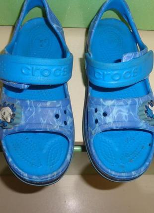 Босоножки с мигалками крокс crocs crocband sandal kids, j2