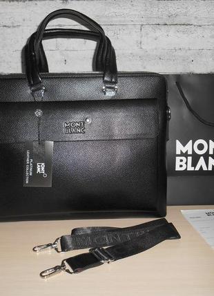 Сумка мужская, портфель mont blanc, кожа, италия 1977