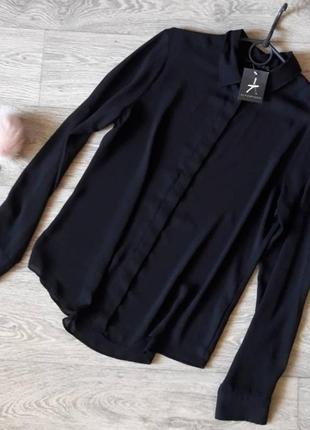 Базовая классическая черная рубашка 12рр