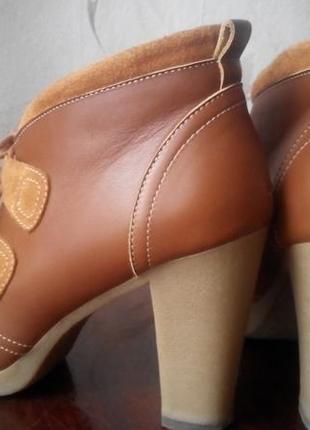 Красивые коричневые ботильены