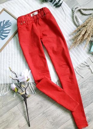 Красные джеггинсы в размере 12
