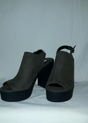 Стильные трендовые босоножки туфли на платформе с толстым каблуком.