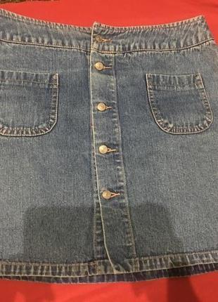 Юбка джинсовая на запах
