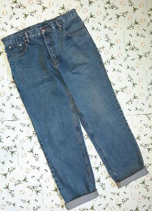 Акция 1+1=3 фирменные плотные джинсы олдскул под винтаж с подворотами, размер 48 - 50