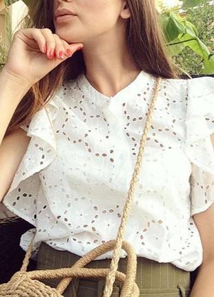 Женственная блуза zara