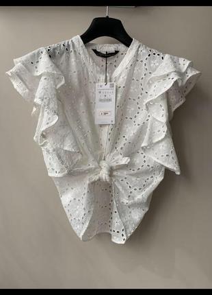 Женственная блуза zara2 фото