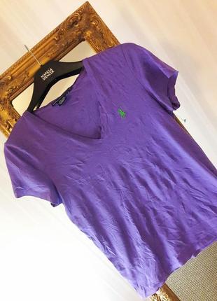 Тонкая хлопковая футболка #ralph lauren #оригинал