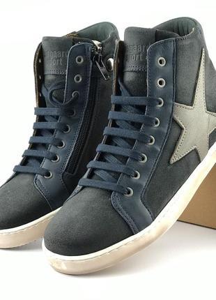 Кожаные демисезонные ботинки bisgaard (португалия)