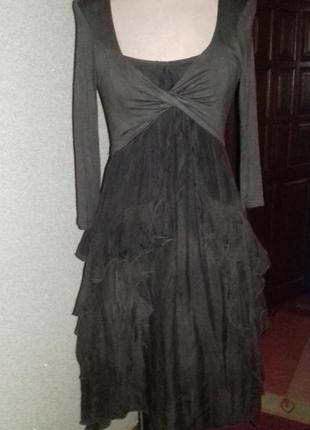 Красивое платье с болеро из натурального шелка