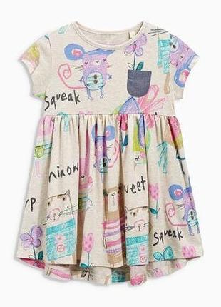 Платье туника мультяшки