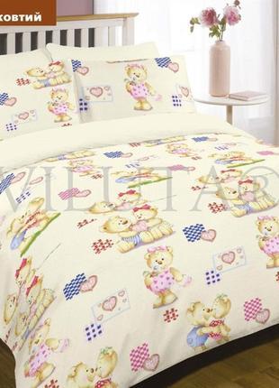 Постельное белье в детскую кроватку желтого цвета