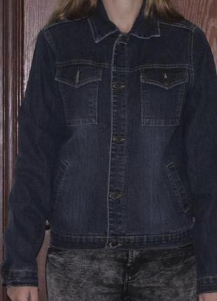 Куртка джинсовая revolt jeans темно синяя