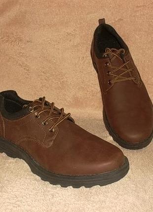 Туфли полуботинки стелька 26,8 см.