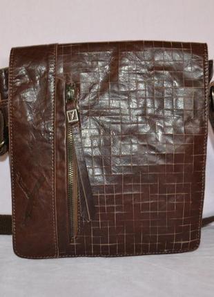 Мужская кожаная сумка suri frey, оригинал