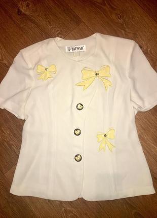Блузка приталенная шифоновая