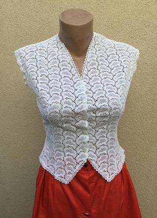 Винтаж,австрия,кружевная,ажурная блузка,эксклюзив,этно стиль,маленький размер