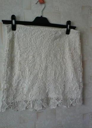 Кружевная юбка, от divided, разм. 46