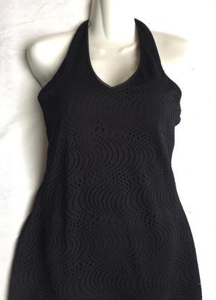 Классное платье кружевное сарафан m-l (46-48)